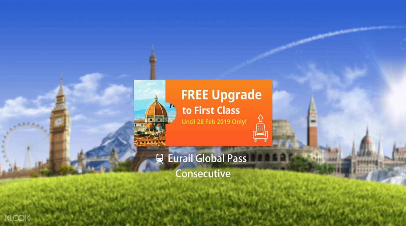 Eurail Global Pass (Consecutive 15, 22 Days or 1, 2, 3 Months)